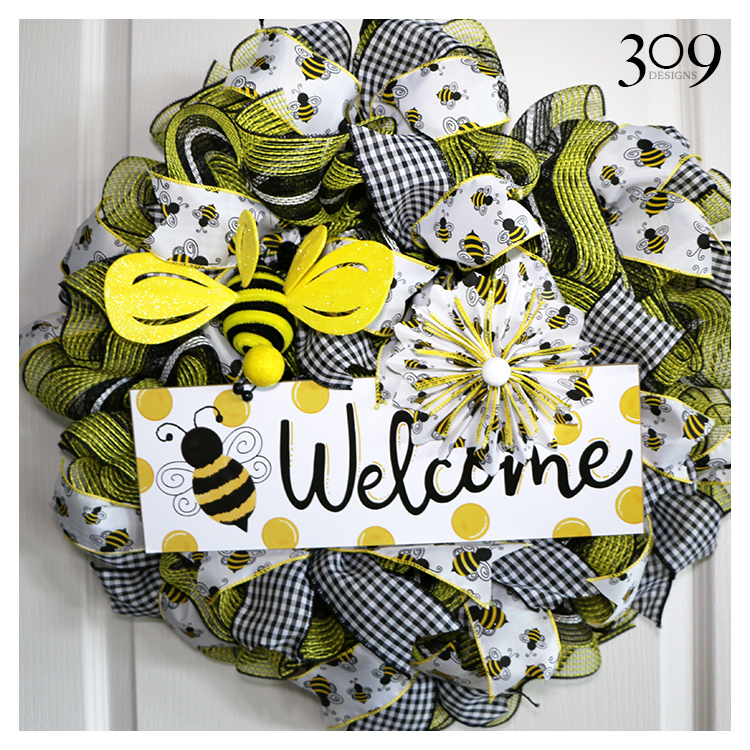Busy Bee Wreath