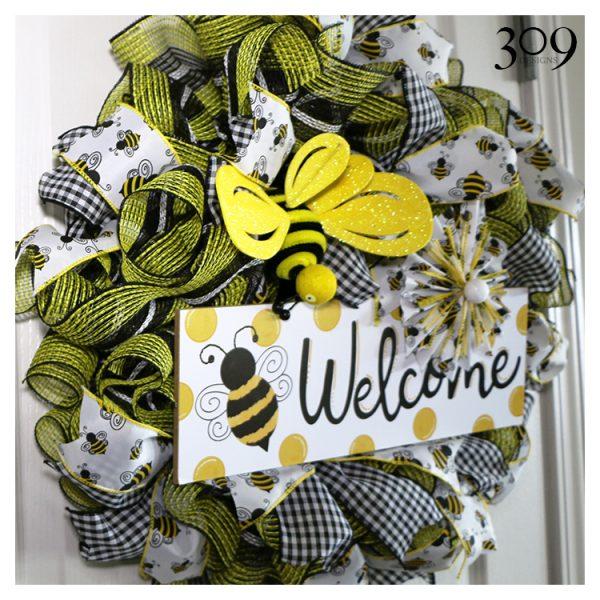 Busy Bee Wreath