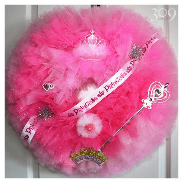 Pink Princess Wreath - Child/Nursery Decor