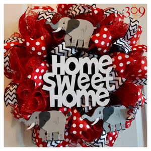 Home Sweet Home Custom Wreath Design