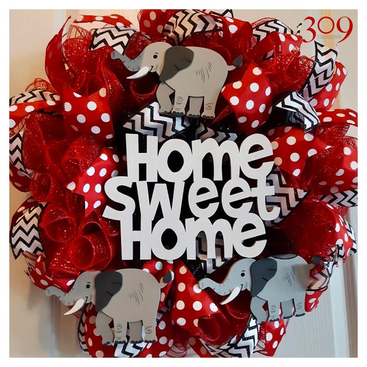 Home Sweet Home Custom Wreath Design