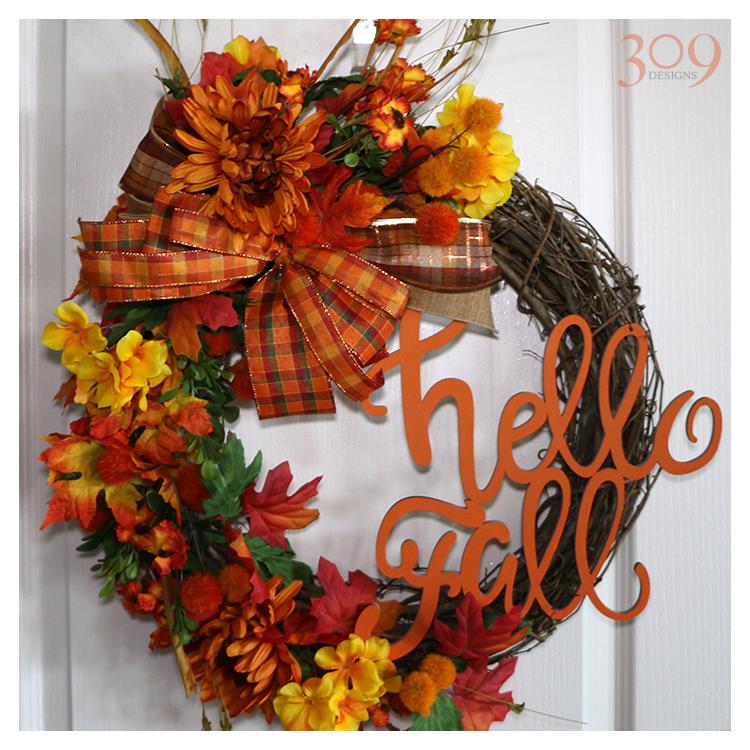 Hello Fall Wreath - Fall Decor