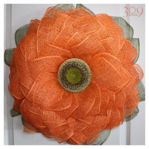 Orange Sunflower Wreath