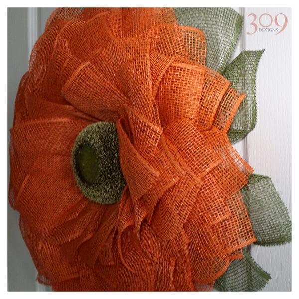 Orange Sunflower Wreath