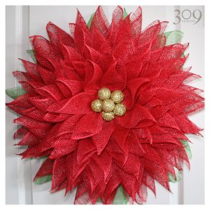 Pretty Poinsettia Wreath