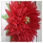 Pretty Poinsettia Wreath