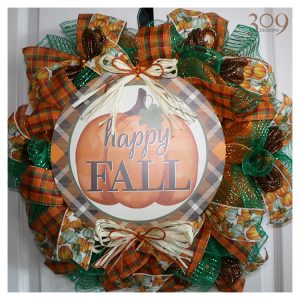 TGI Fall/Autumn-Themed Wreath
