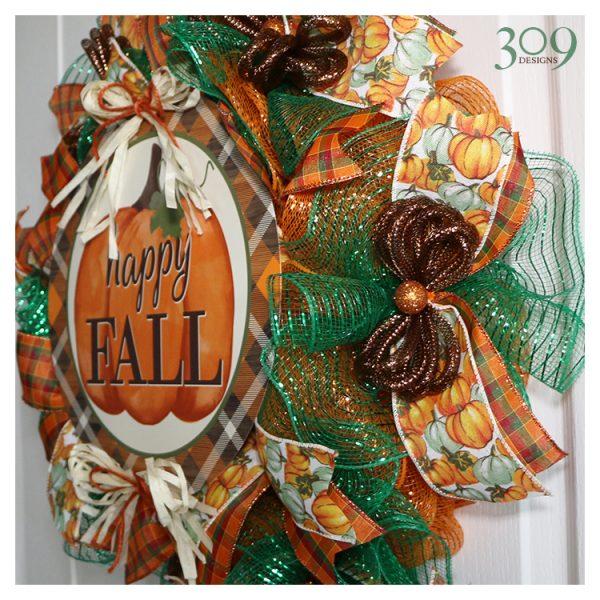 TGI Fall/Autumn-Themed Wreath