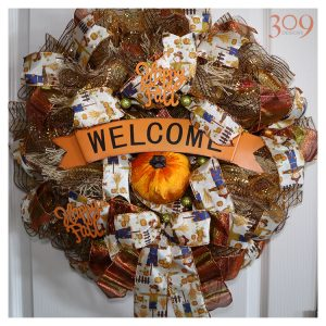 Welcome Autumn Wreath Fall Decor