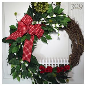 Happy Homestead Winter Christmas Wreath