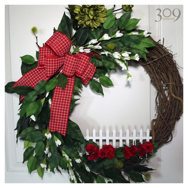 Happy Homestead Winter Christmas Wreath