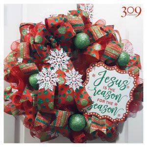 Season's Reason Christmas Wreath