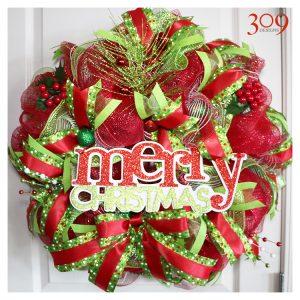 Very Merry Christmas Wreath